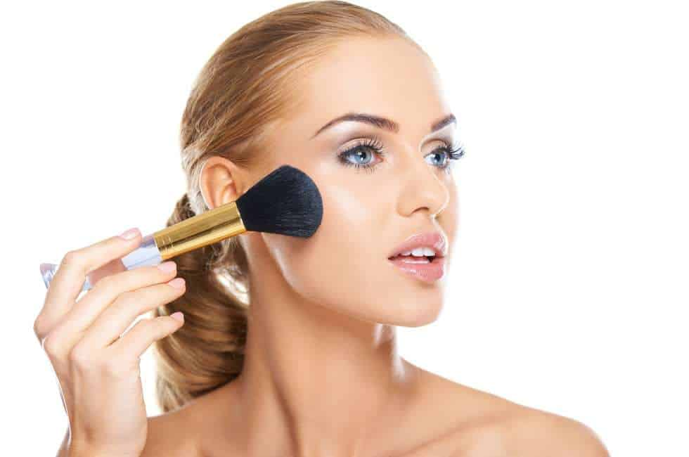 Image result for woman and loose powder