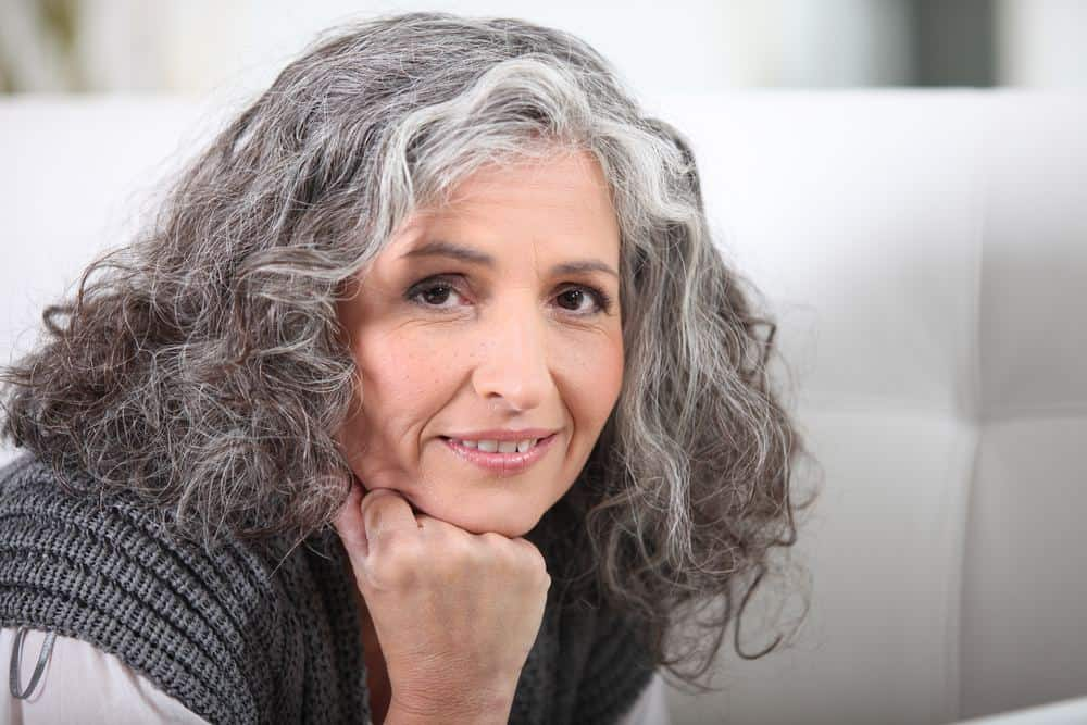Gray With Dark Hair
