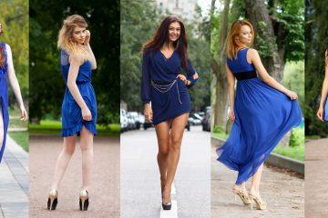 women in navy blue dress